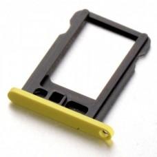 iPhone 5С держатель SIM-карты (желтый)