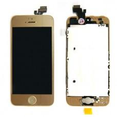 iPhone 5 Дисплей с тачскрином 1 категория Золотой