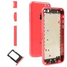 Корпус iPhone 5C (Red) с держателем сим-карты, заглушками