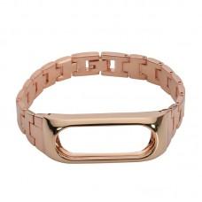 Ремешок к фитнес-браслету Xiaomi Mi Band 2 металлический блочный (золотой)